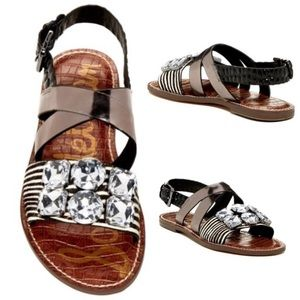 Sam Edelman Shoes - Sam Edelman Dorsey Genuine Cow Hair Sling Sandal